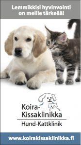 Koira-Kissaklinikan kanta-asiakaskortin kansi