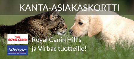 Kanta-asiakaskortti Royal Canin Hill's ja Virbac tuotteille